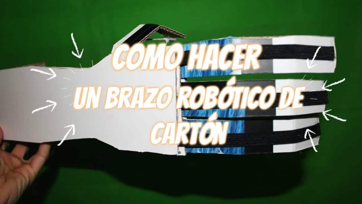 Como hacer un brazo robótico de cartón