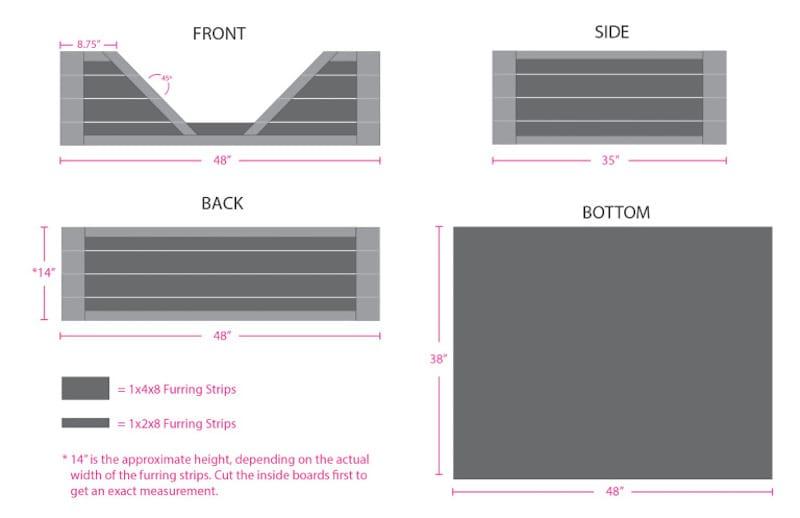 Como hacer una cama para tu perro con palets planos1