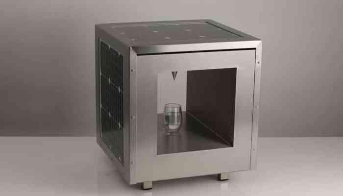 Compact WaterCube, la máquina que convierte la energía solar en agua potable