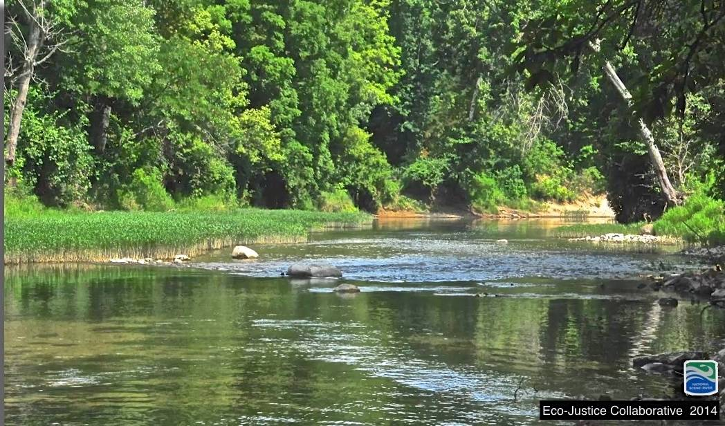 Middle Fork of the Vermilion River - Illinois' only National Scenic River. Photo by Pam Richart, Eco-Justice Collaborative. August 2014.