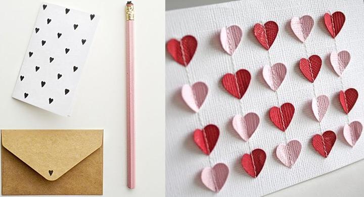 DIY tarjetas postales para enamorados