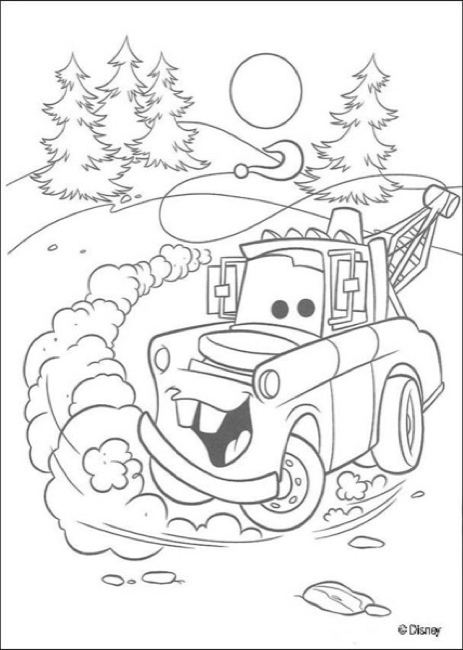 Cars Tow Mater Printable Coloring Page