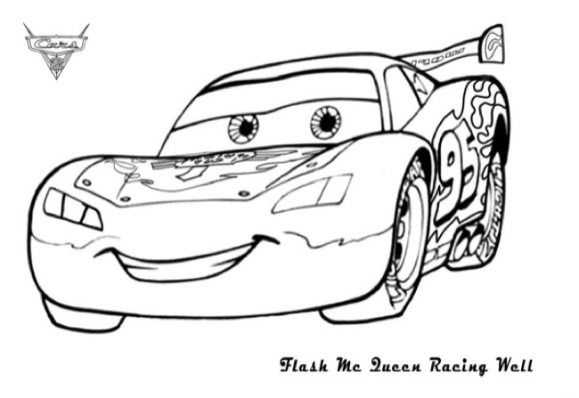 Cars Lighting Mcqueen Printable Coloring Page eColoringPage