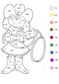 Free coloring pages of subtraction worksheet