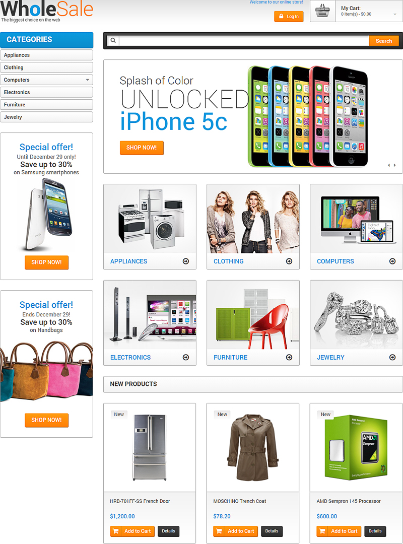 Computer Online Store 12 Fully Functional Ecommerce Templates Themes For Online