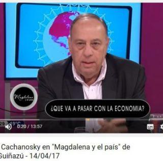 Roberto Cachanosky con Magdalena Ruíz Guiñazú