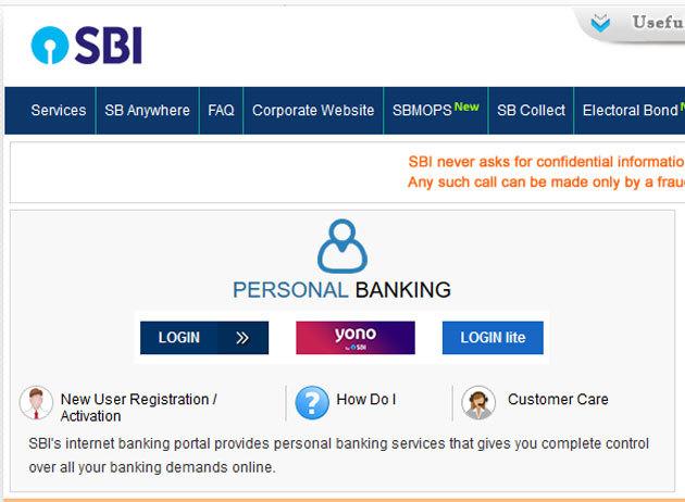 SBI online banking registration How to register for SBI net banking