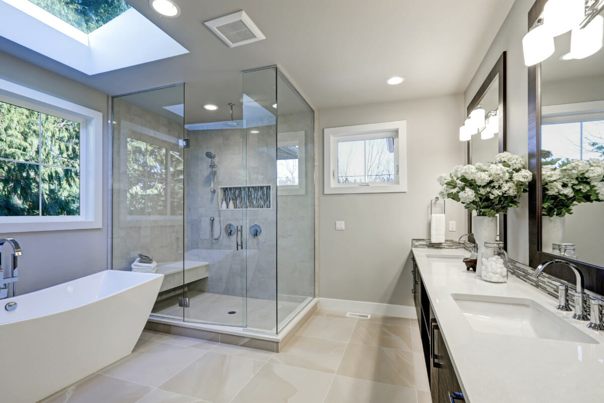 Glass Shower Curtains Ditch Your Shower Curtains For A Glass Enclosure Economy Glass