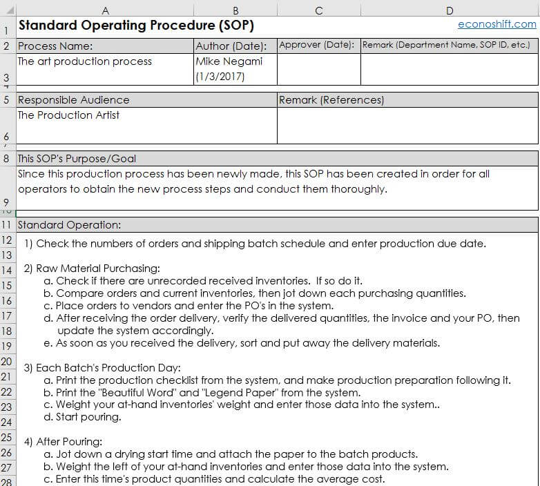 5 Steps How to Write an SOP - Excel Template Practice - How To Write A Standard Operating Procedure