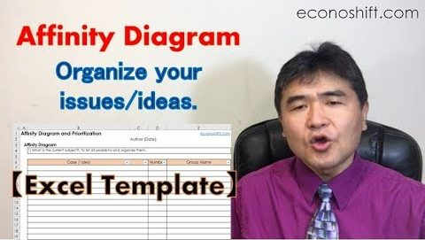Use an Affinity Diagram to organize your issues/ideas【Excel