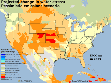 Water stress map