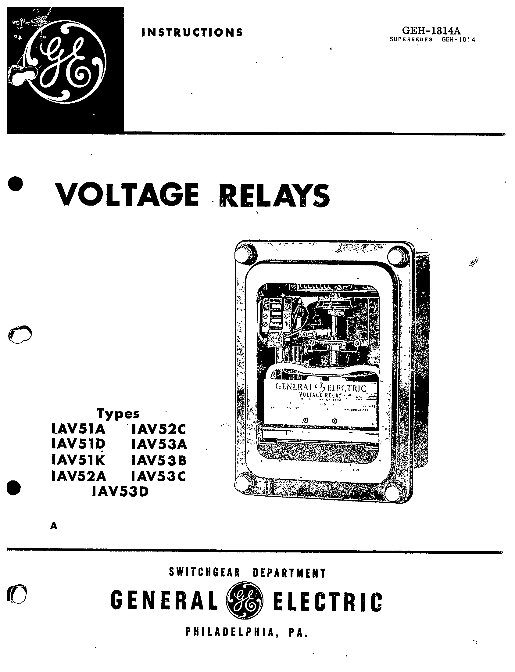 electrical relay manuals