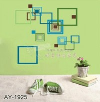 Jual Square Ornament Wall Sticker Transparant - Azka ...