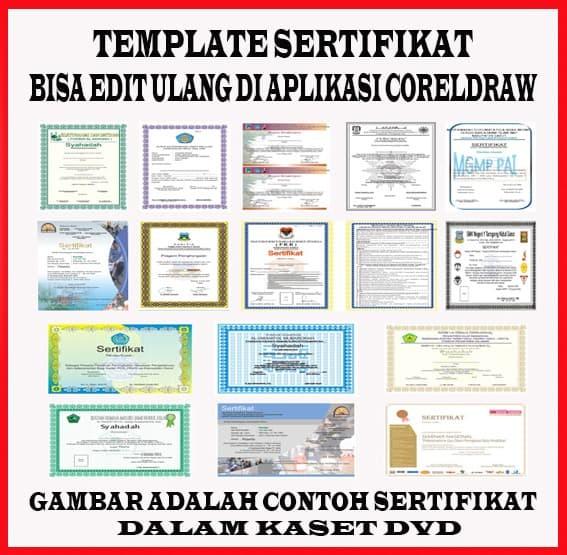Jual DVD/CD Template Desain Sertifikat Format CorelDraw - Kota Jambi