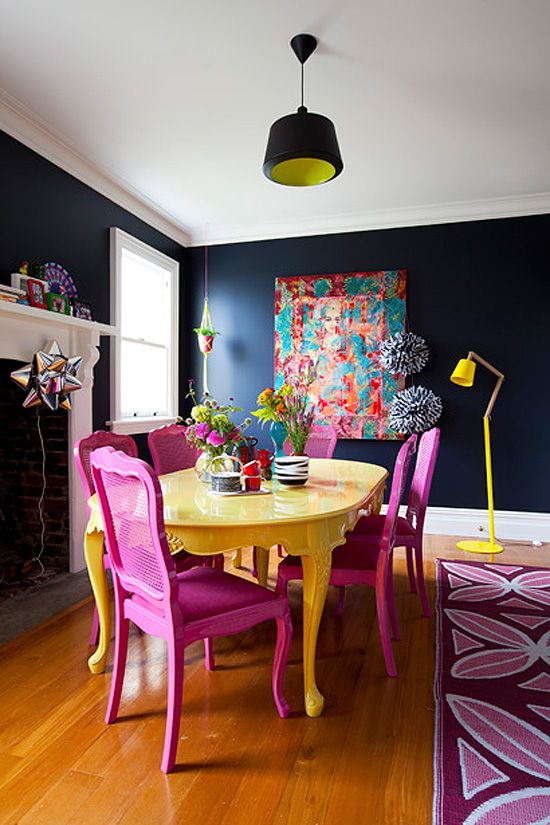 36 Best Bright Color Dining Room Design Ideas Ecstasycoffee