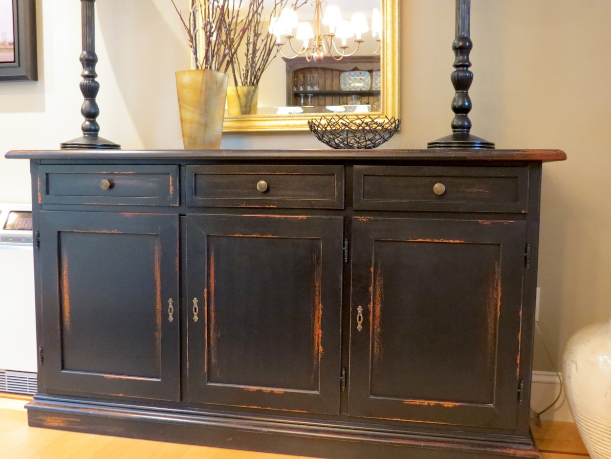 Dining Room Furniture Buffet Three Drawer Black Buffet For Dining Room Ecustomfinishes