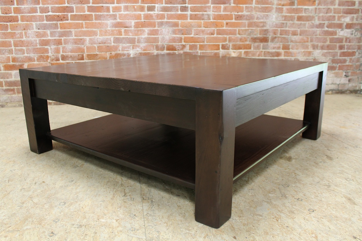 Sideboard Designer Square Parsons Coffee Table In Espresso - Ecustomfinishes