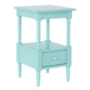 Image of Kids Nightstands: Kids White Spindle Jenny Lind Nightstand, Az Jenny Lind Nightstand (B008JG99L8)