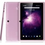 Dragon Touch Y88X Plus 7'' Quad Core Google Android 4.4 KitKat Tablet PC, IPS Display, HD Screen 1024 x 600, 8 GB, Bluetooth, Dual Camera, Netflix, Skype, 3D Game Supported - Rose Pink