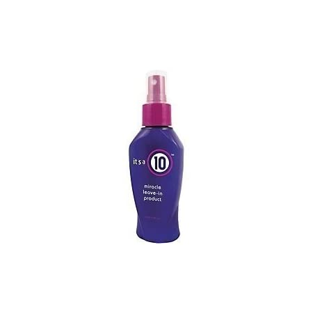 It's A 10 does 10 things instantly: 1. Repairs dry damaged hair. 2. Adds shine. 3. Smoothes and controls frizz. 4. Seas and protects hair color. 5. Detangles. 6. Prevents split ends. 7. Stops hair breakage. 8. Creates silkiness. 9. Enhances natural b...