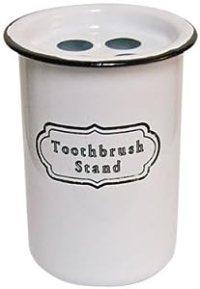 Amazon.com - Enamelware - Enamel Toothbrush Stand Holder ...