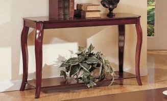 Image of 1-pc Beautiful console Table in Dark Cherry Finish PDSF60152 (B004RQULZ2)