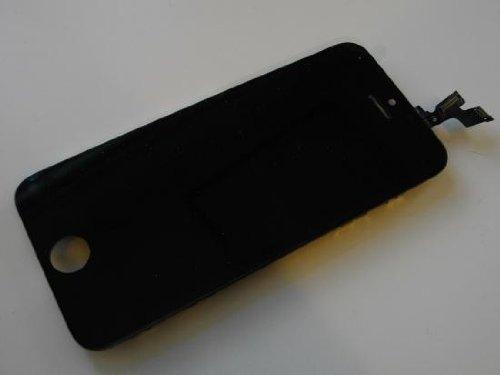 iPhone5S 修理用フロントパネル(フロントガラスデジタイザ) ブラック タッチパネル 液晶パネルセット