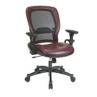 Amazon.com : Mesh and Leather Ergonomic Computer Chair ...