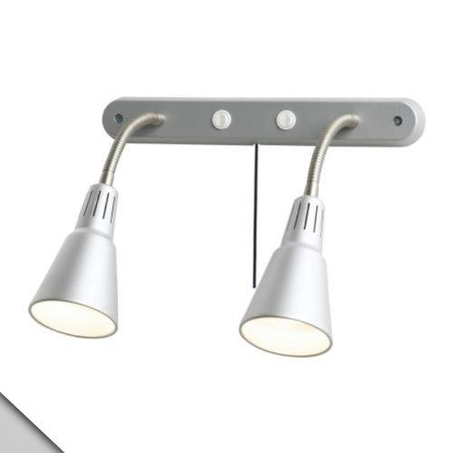 New Smart Angel IKEA - KVART Wall Lamp, Double, Silver Color