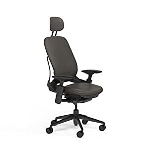 Amazon com steelcase leap desk chair with headrest soapstone leather