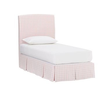 Image of Pottery Barn Kids Lewis Headboard with Allison Slipcover and Bed Skirt (B00223SU1Y)