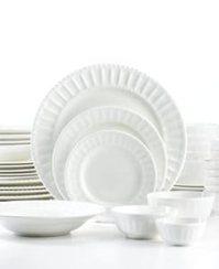 Amazon.com | The Cellar Dinnerware, White Elements ...