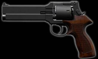 6mmBBガスリボルバー マテバリボルバー・木製グリップ仕様・ブラックHW