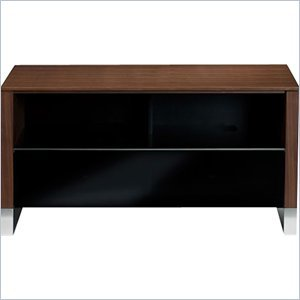 Image of BDI Cascadia 8254 Small TV Stand Cabinet in Chocolate Stained Walnut (8254CWL)