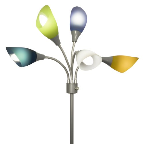 Light Accents Medusa Silver Floor Lamp with Multicolor