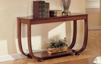 Image of Beautiful 1-pc Console Table in Dark Cherry Finish PDS F60016 (B004RQV8M2)