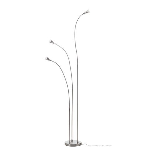 What Is The Price For IKEA TIVED LED floor lamp nickel plated - Mary