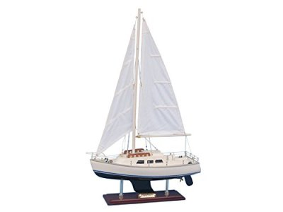 Catalina-Yacht-24-Wood-Model-Sailing-Boat-Yacht-Model-Nautical-Centerpie