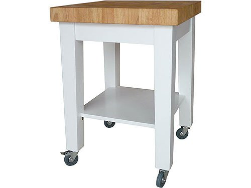 Image of White Kitchen Island (WC18-2424)