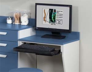 Picture of Comfortable Computer Station wall mount desk with 1 leg (B004L033C2) (Computer Desks)