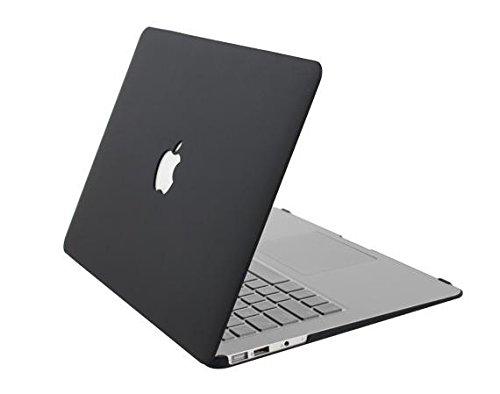 Apple Mac Book Air 13.3インチ 用 マット ハードケース ブラック 13.3 Air(黒) (ブラック)
