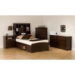 Image of Kids Bedroom Furniture Set 1 in Espresso - Fremont - Prepac Furniture - FRE-KBSET-1 (FRE-KBSET-1)