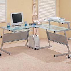 Picture of Comfortable Wrightwood L-Shape Computer Desk by Coaster (B0051PEAB4) (Computer Desks)