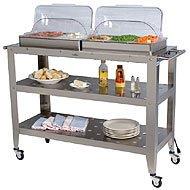 Image of Broil King Grand Buffet Warming Kitchen Cart Rolling Top Wbc5rt (WBC5RT)