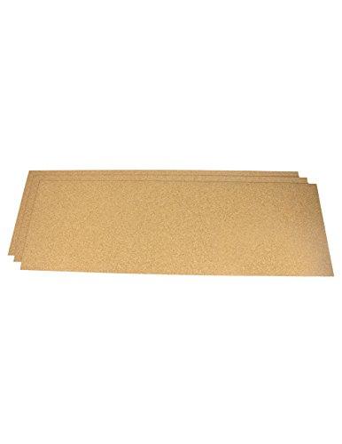 Cork Shelf Liners Plain 12 In X 24 In X 1 16 In 3 Pack