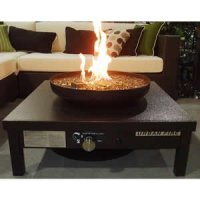 Amazon.com: Bronze Outdoor Gas Fire Pit Table: Patio, Lawn ...