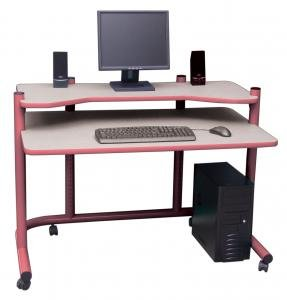 Picture of Comfortable Computer Workstation in Mauve and Grey by Studio Designs (B005D4ZJIG) (Computer Workstations)