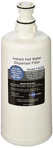 Insinkerator F-601 Filter Cartridge for Hot Water Dispenser ( 2 - Pack )
