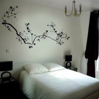 Black Cherry Blossom Flower Mural Wall Stickers Home Art ...