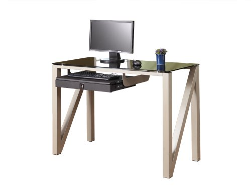 Picture of Comfortable Homelegance Downtown Collection Z Base Computer Desk (B004NBXV08) (Computer Desks)